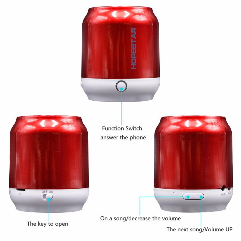 Портативна Bluetooth тонколонка HOPESTAR H8- MP3, FM, SD card