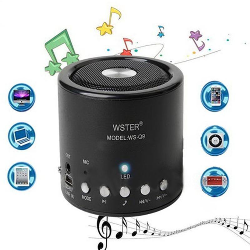 Портативна блутут тонколона WS-Q9 - FM, SD card, MP3