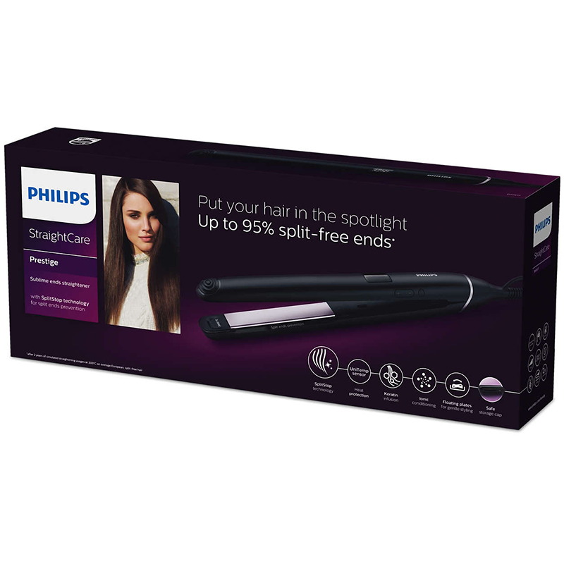 Преса за коса Philips BHS677/00, Керамично покритие, Технология Splitstore, Сензор Unitemp