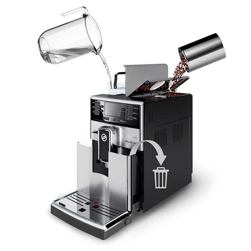 Кафемашина SAECO HD8927/09, Мощност 1850 W, Налягане 15 bar., Керамична кафемелачка
