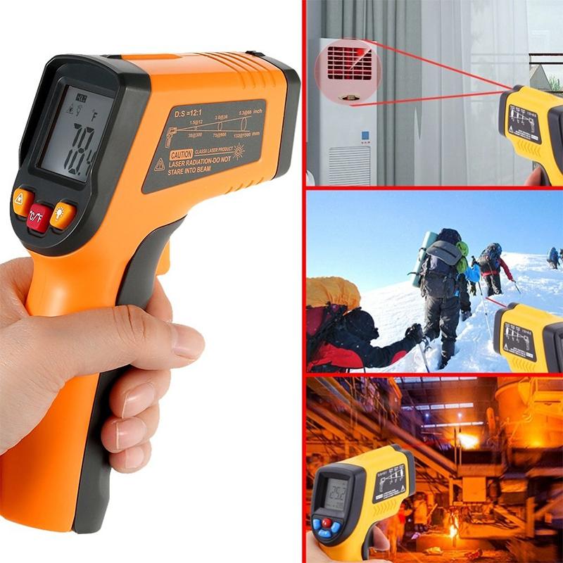 Безконтактен инфрачервен термометър 380 градуса