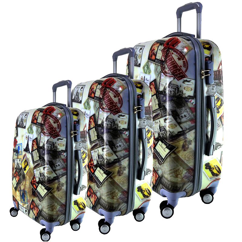 Комплект 3 броя PVC леки спинър- куфари 13009-2 EUROPE POST STAMPS - ПОЛИКАРБОН