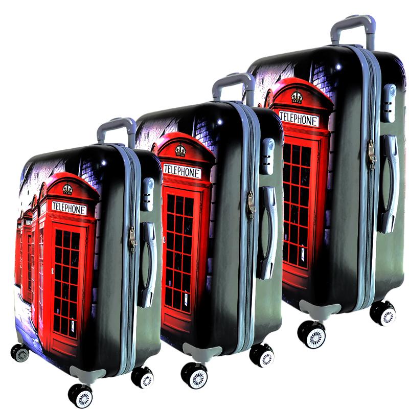 СУПЕР ПРОМО: 3 леки и твърди спинър- куфари 13009-2 LONDON - ПОЛИКАРБОН