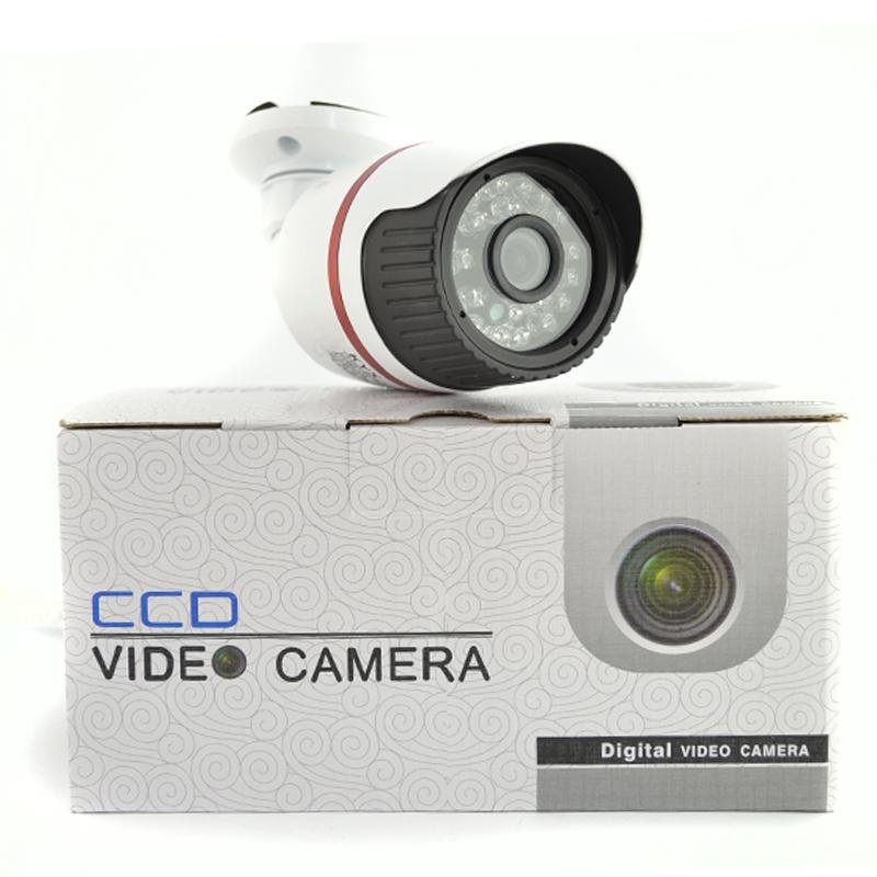Охранителна камера KYX - 1003A, алуминиев корпус, IR подсветка с 24 LED диода