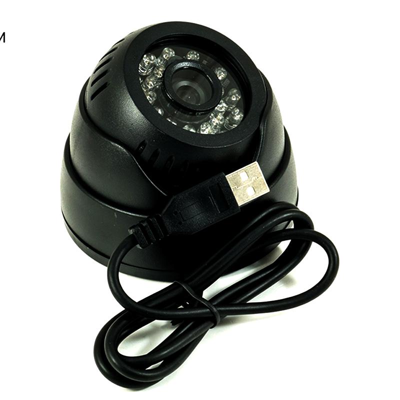 Камера за наблюдение DOMARS USB-901B, куполна, с инфрачервени диоди