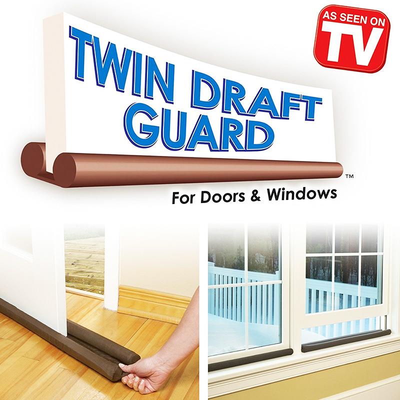 Двустранен уплътнител за врата Twin Draft Guard - край с теченията
