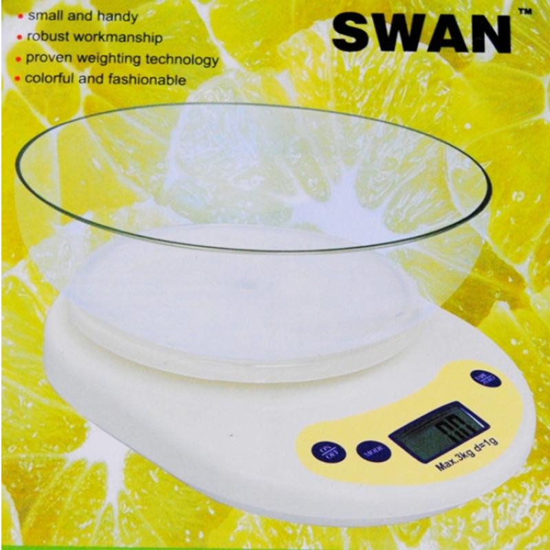 Електронна кухненска везна с купа SWAN, до 5 кг