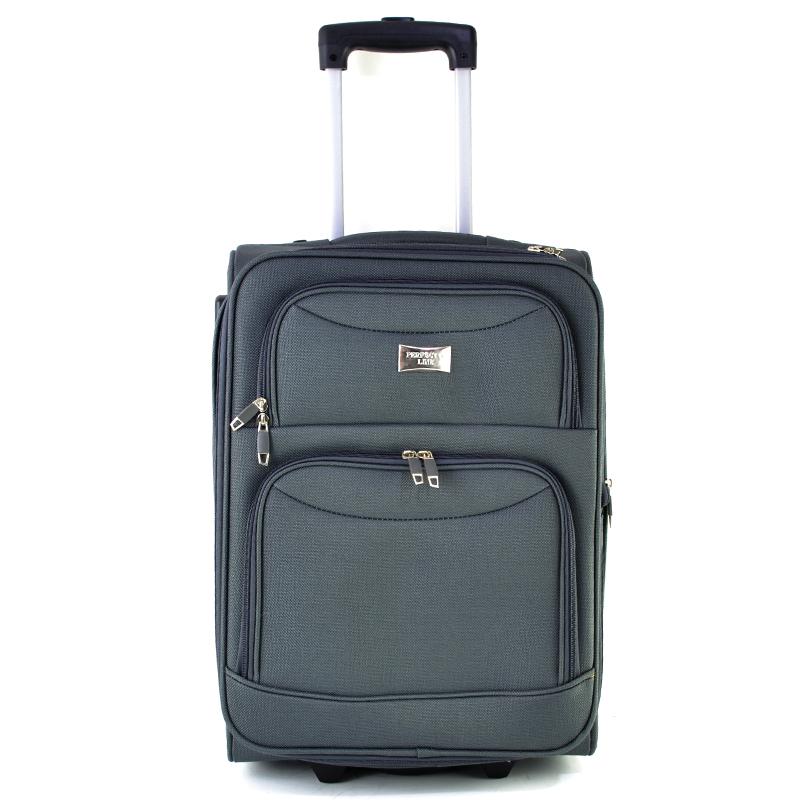 Висок клас разширяващи се текстилни куфари Perfect Line GREY 1029-2 - 3 броя