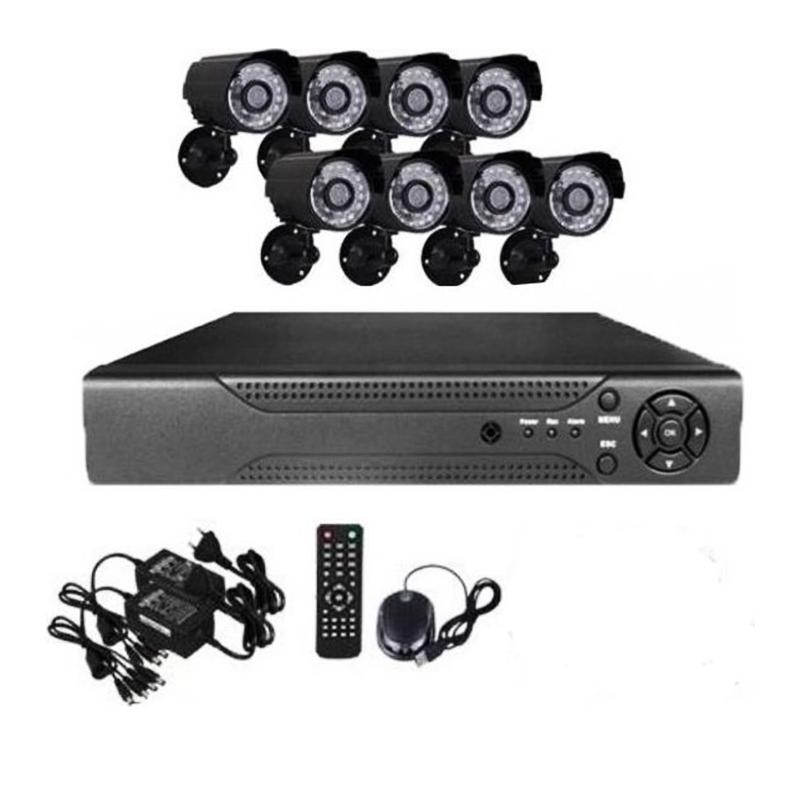 Пълен комплект за видео наблюдение CCTV SECURITY RECORDING SISTEMS E-CH 7008 - 8