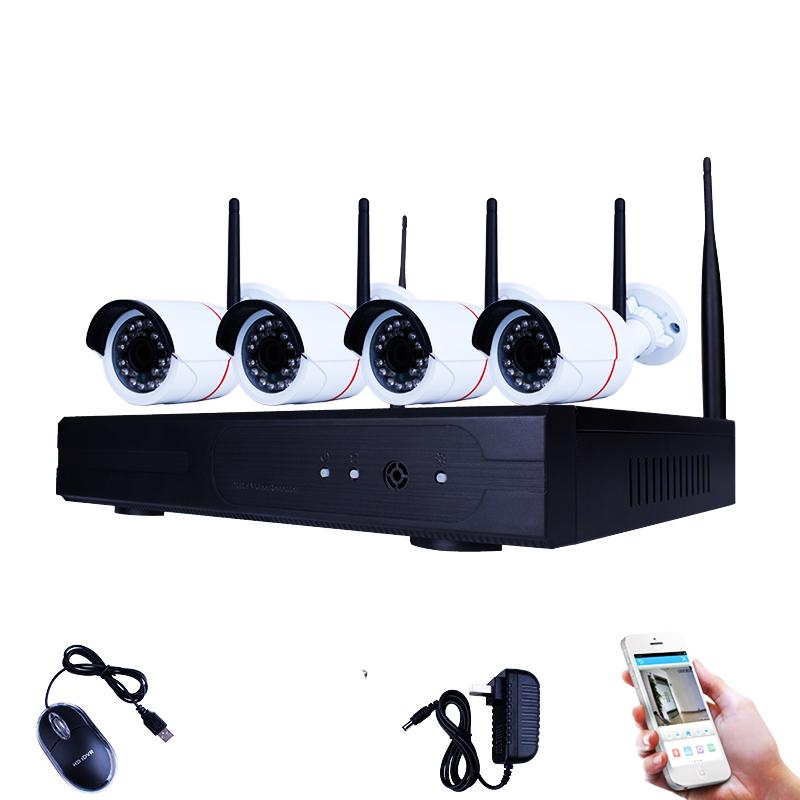 HD NVR KIT за наблюдение, 4 канален декодер, 4 IP камери KYX - 7104