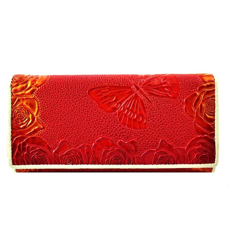 Дамски портфейл RED BUTTERFLY 4131-H, естествена кожа