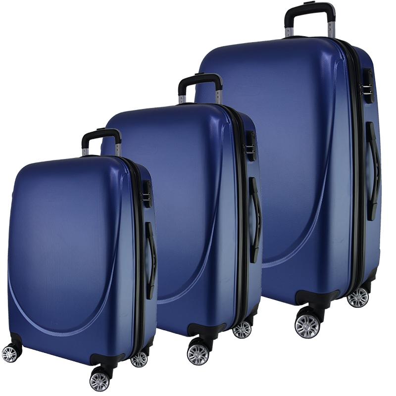 Луксозни пътнически куфари SPRING BLUE - леки, твърди и безшумни спинъри, с 1217-360