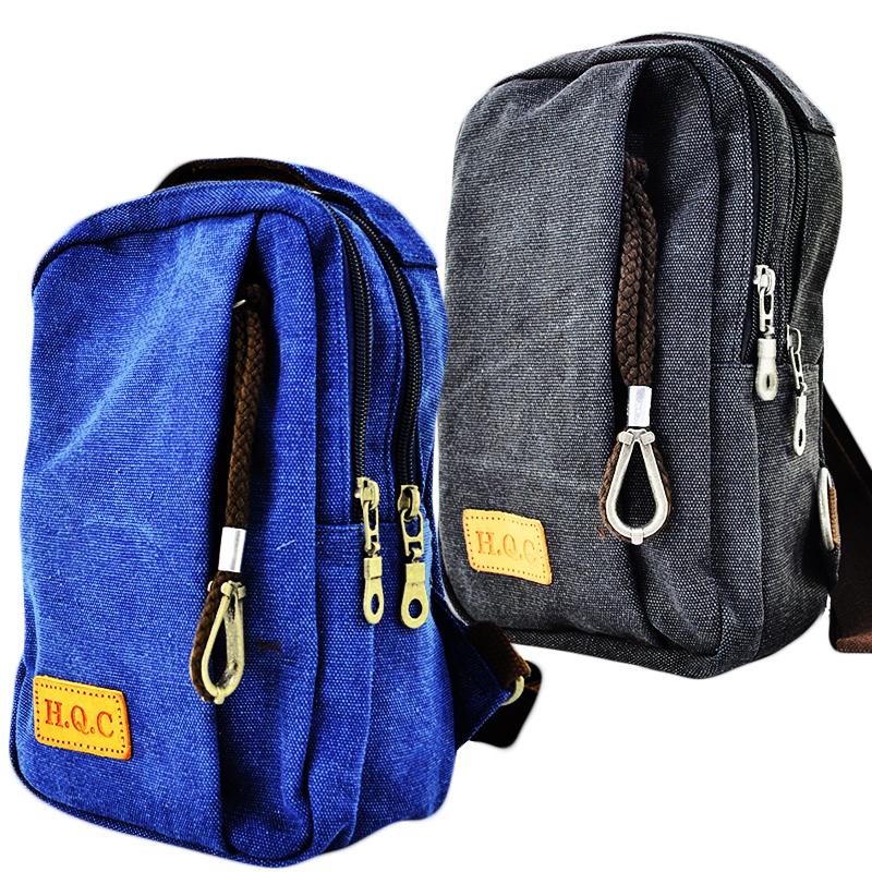 Здрава, спортна мъжка чанта от текстил HQC 9875