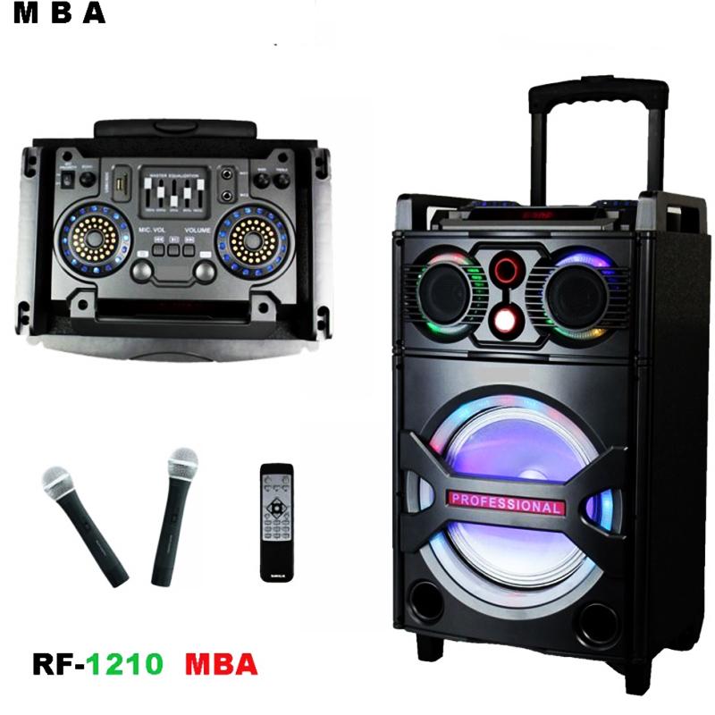 Мощна DJ активна, караоке тонколона MBA RF-1210