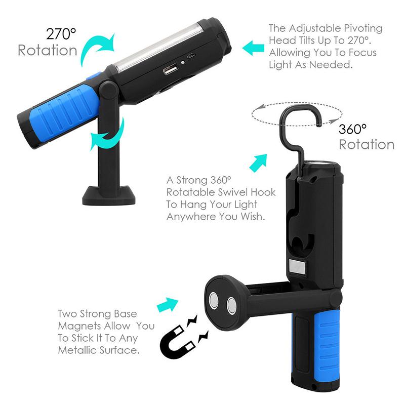 Супер функционален и мощен фенер WORKING LIGHT