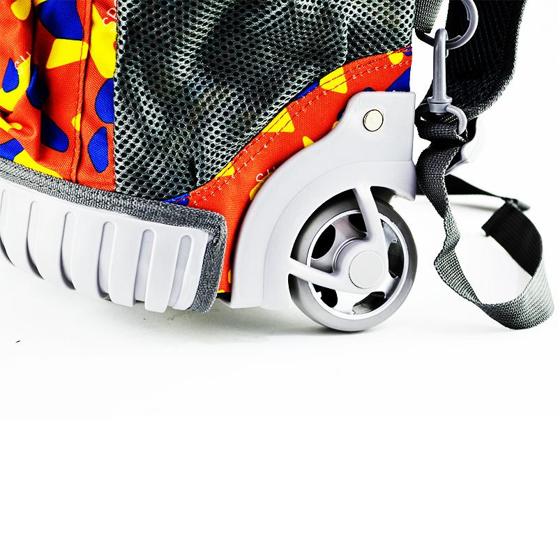 Младежка / детска раница с колелца и телескопична дръжка за теглене NS3555-3