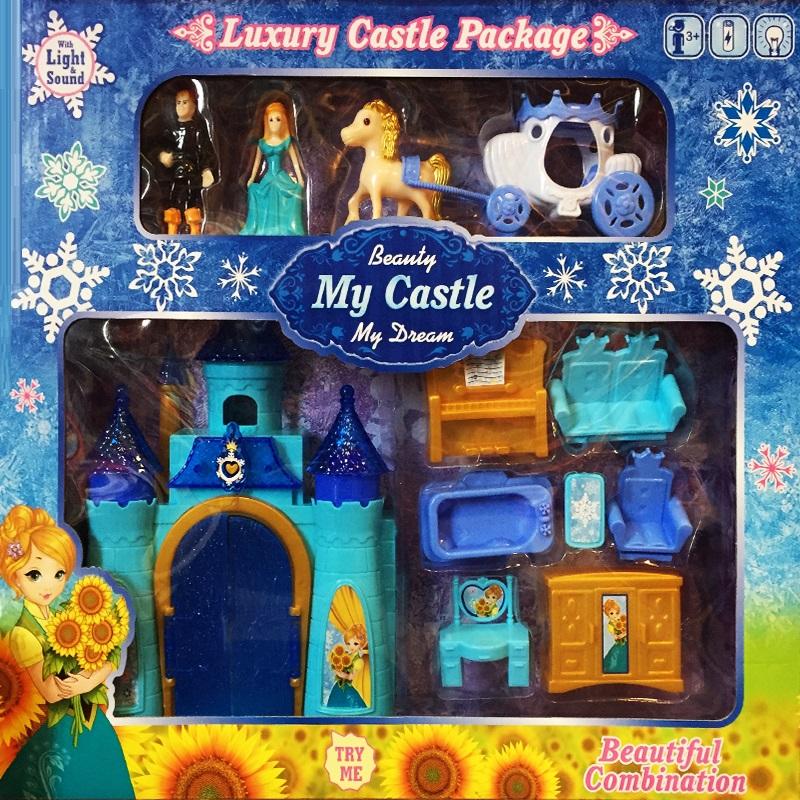 Вълшебен замък на мечтите - с куп аксесоари и истинска принцеса