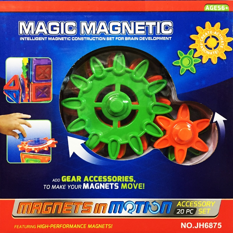 Magic Magnetik - конструктор с магнитни части- игра и наука в едно, 20 части, 3+