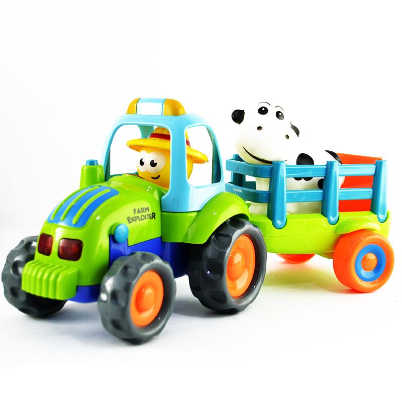 Детска играчка трактор с ремарке и крава FARM EXPLORER