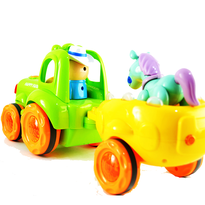 Детска играчка трактор с ремарке и конче HAPPY FARMER CAR