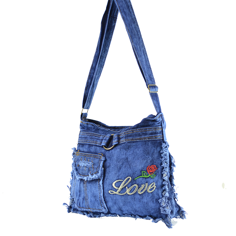 Denim Jeans BAG  11364 LOVE - дамска чанта за през рамо