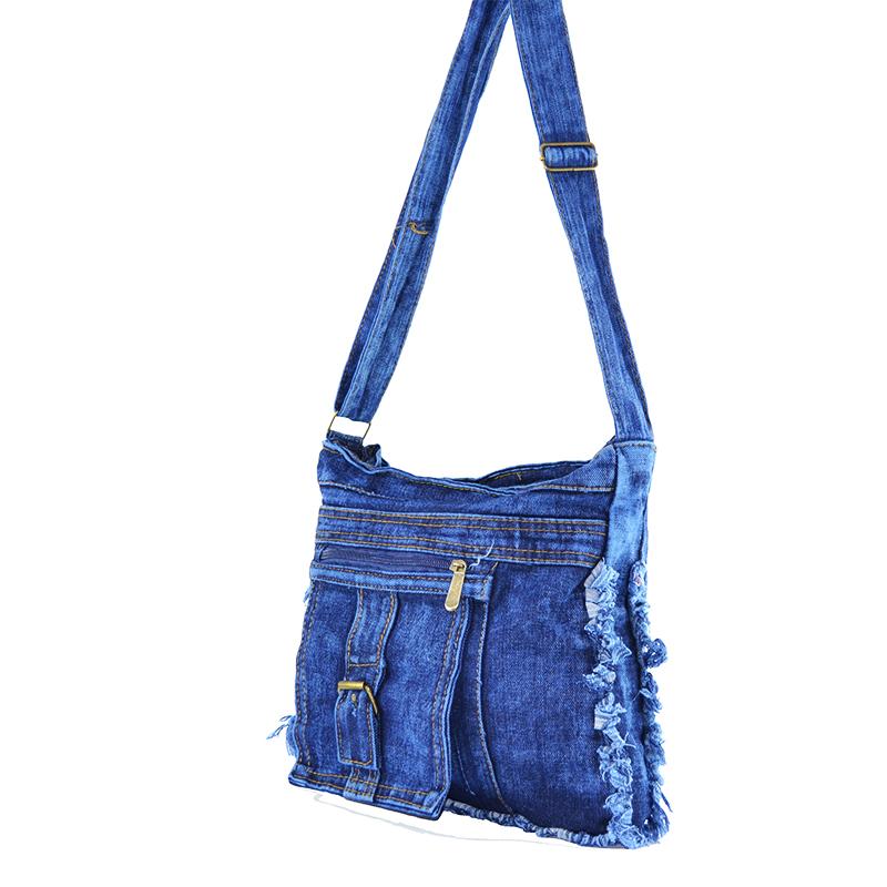 Denim Jeans BAG 11364 SINGLE POCKET - дамска чанта за през рамо