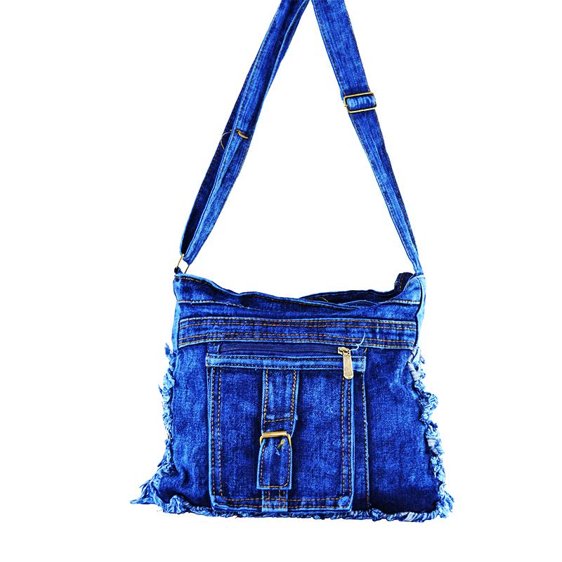 Denim Jeans BAG 11364-2 SINGLE POCKET - дамска чанта за през рамо