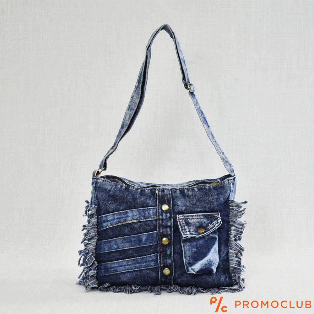 Denim Jeans BAG 11364-8 Small Pocket - дамска чанта за през рамо