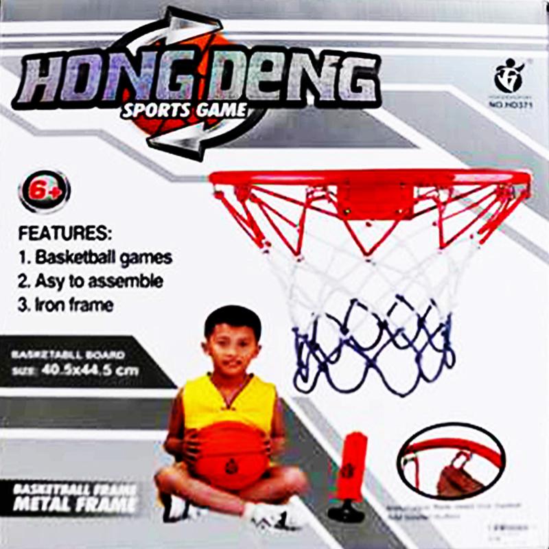 Баскетболен комплект от топка, кош и помпа B1571126