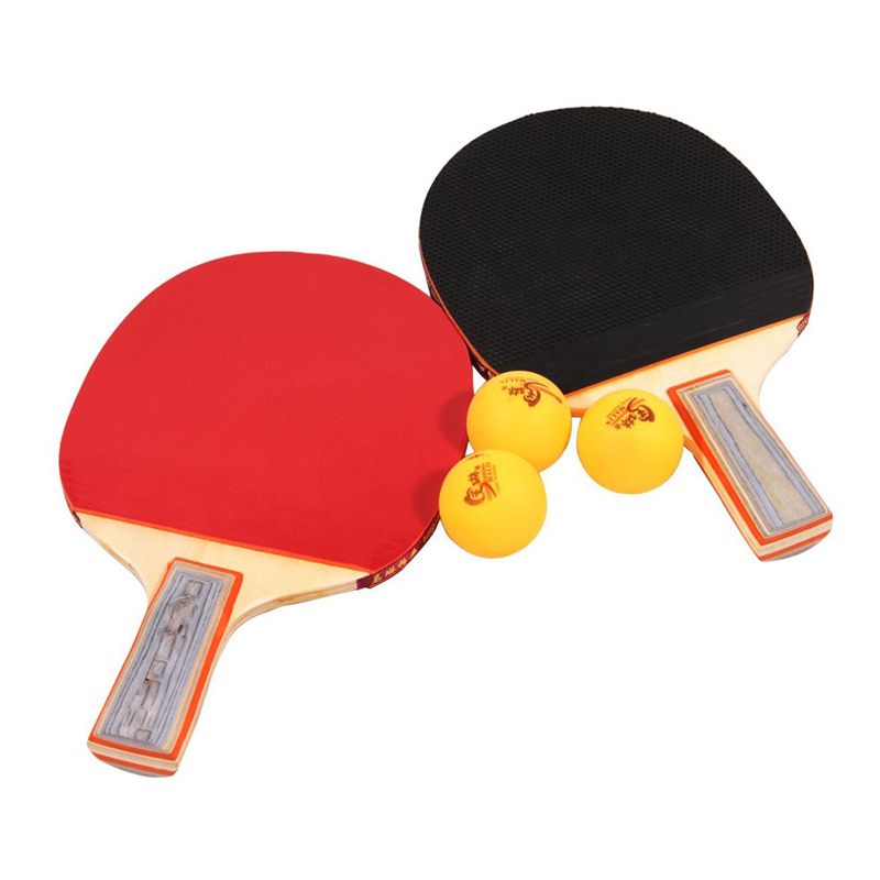 Комплект 2 хилки за тенис на маса и 3 топчета