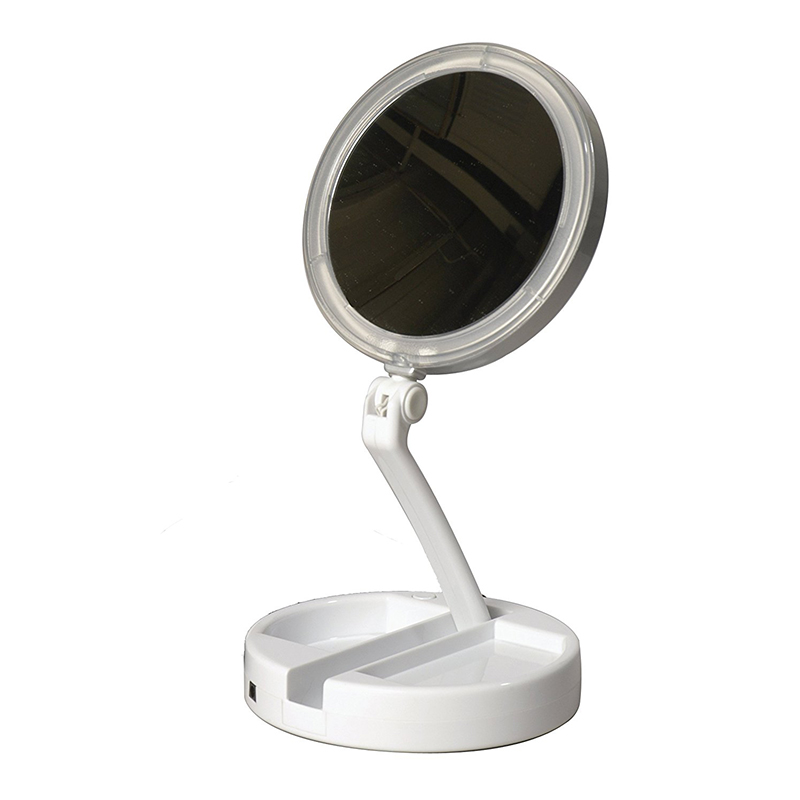 LED двустранно огледало с до 10 x увеличаване на образа MY FOLDWAY MIRROR