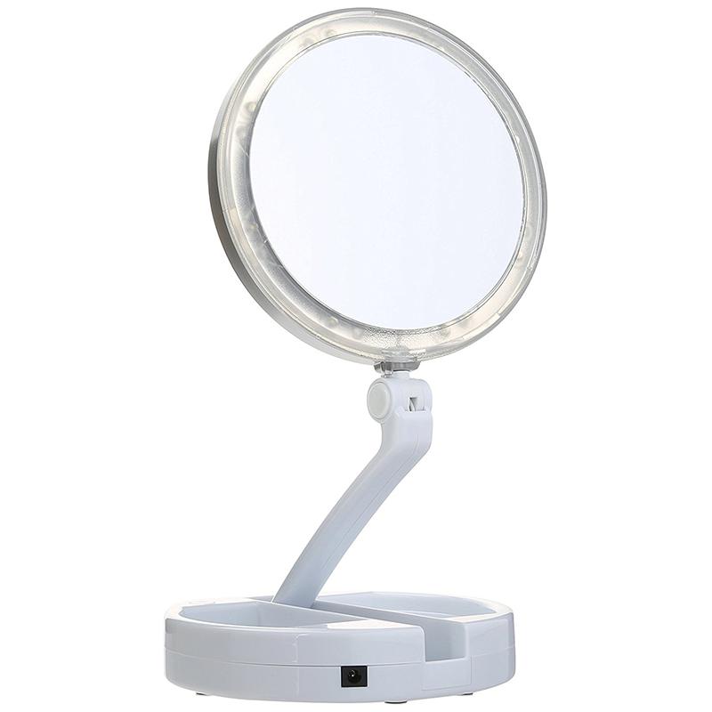 LED двустранно огледало с до 10 x увеличаване на образа