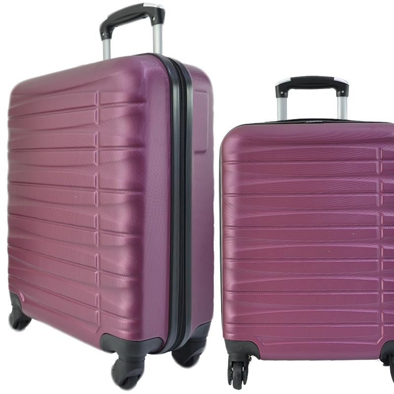 Куфар - спинър за ръчен багаж TRANSIT 837 RAYANAIR и WIZZAIR, PREMIUM CLASS, PURPLE -BORDO