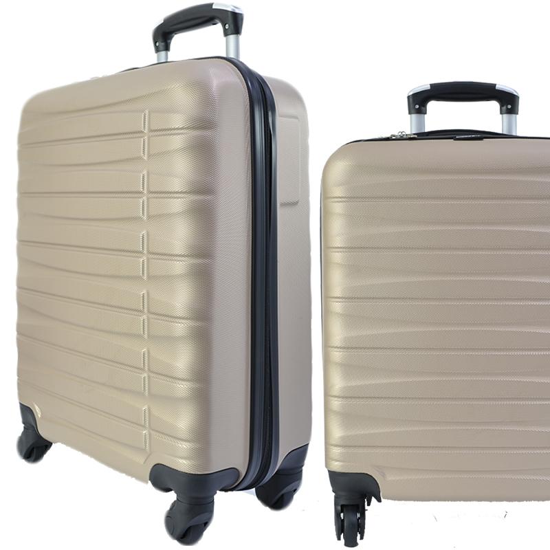 Куфар - спинър за ръчен багаж TRANSIT 837 RAYANAIR и WIZZAIR, PREMIUM CLASS, CHAMPAIGNE