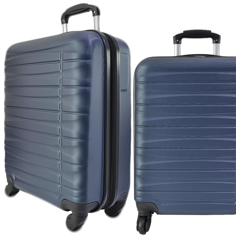 Куфар - спинър за ръчен багаж TRANSIT 837 RAYANAIR и WIZZAIR, PREMIUM CLASS, DARK BLUE