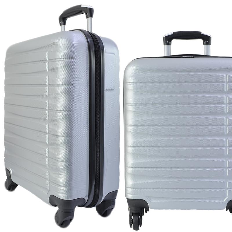 Куфар - спинър за ръчен багаж TRANSIT 837 RAYANAIR и WIZZAIR, PREMIUM CLASS, SILVER