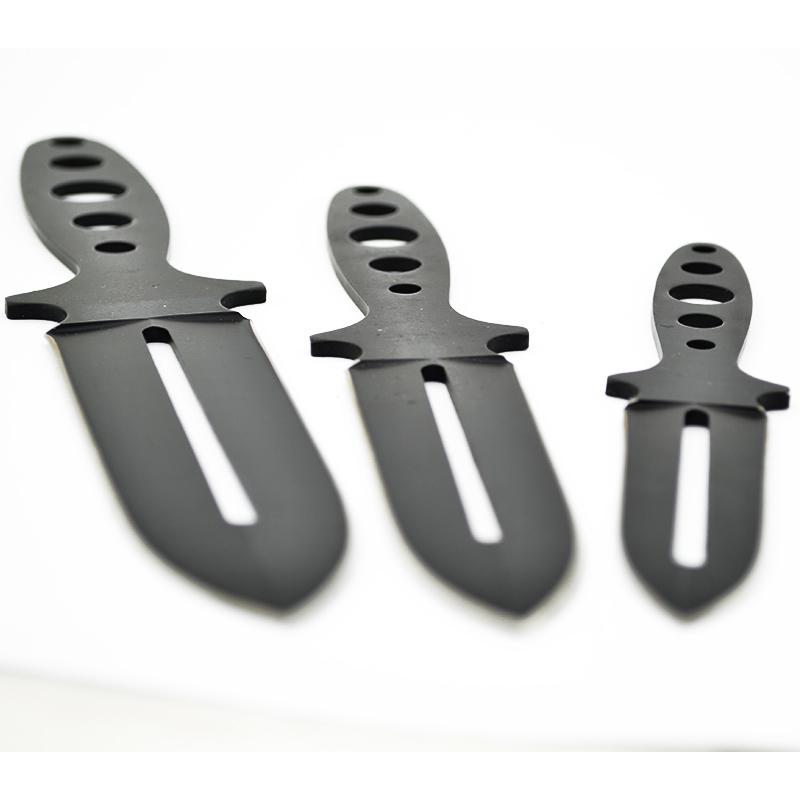 Комплект три броя ножове за хвърляне от закалена стомана и двойно острие К42