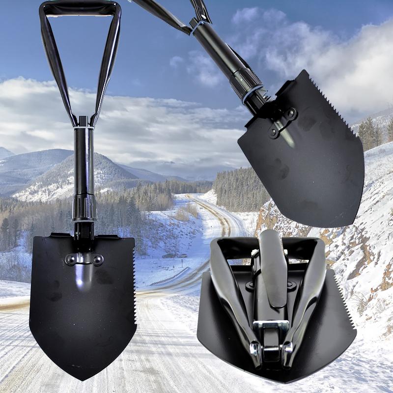 СУПЕР ПРОМО: супер удобна, метална, сгъваема лопата за багажника на колата