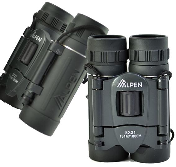 Бинокъл ALPEN 8х21 COMPACT, оптика