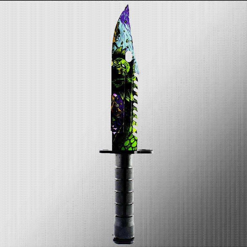 Геймърски нож COUNTER STRIKE CS M9 BAYONET ELITE MONSTER M14 с ПОДАРЪК - дървена стойка