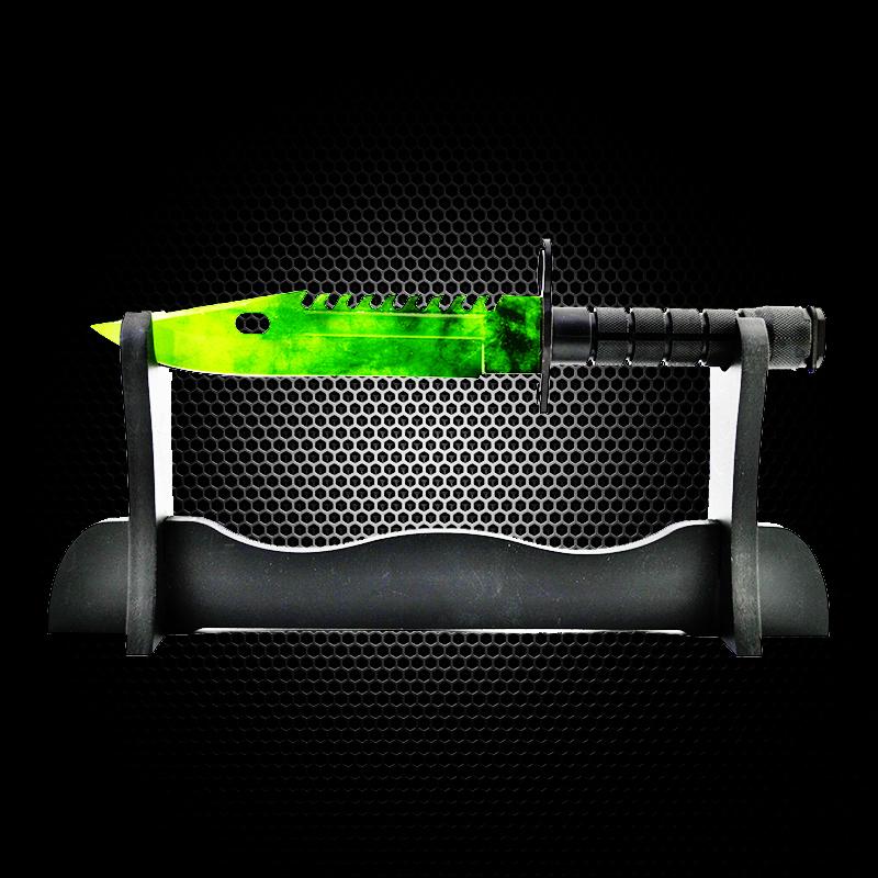 Геймърски нож COUNTER STRIKE CS M9 BAYONET ELITE EMERALD M10 с ПОДАРЪК - дървена стойка