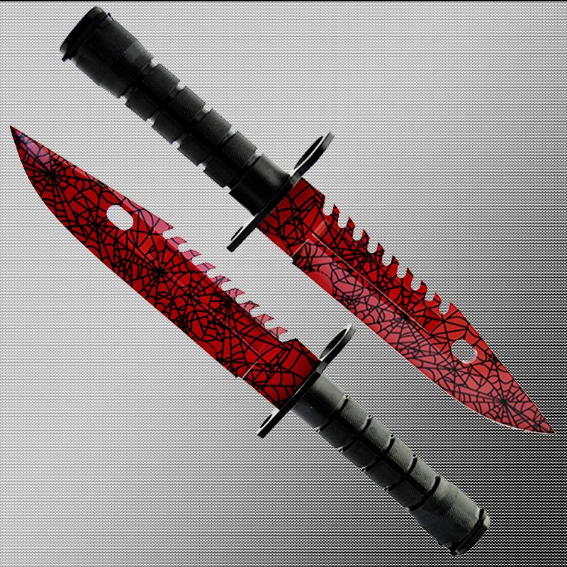 Геймърски нож COUNTER STRIKE CS M9 BAYONET RUBY M3 с ПОДАРЪК - дървена стойка