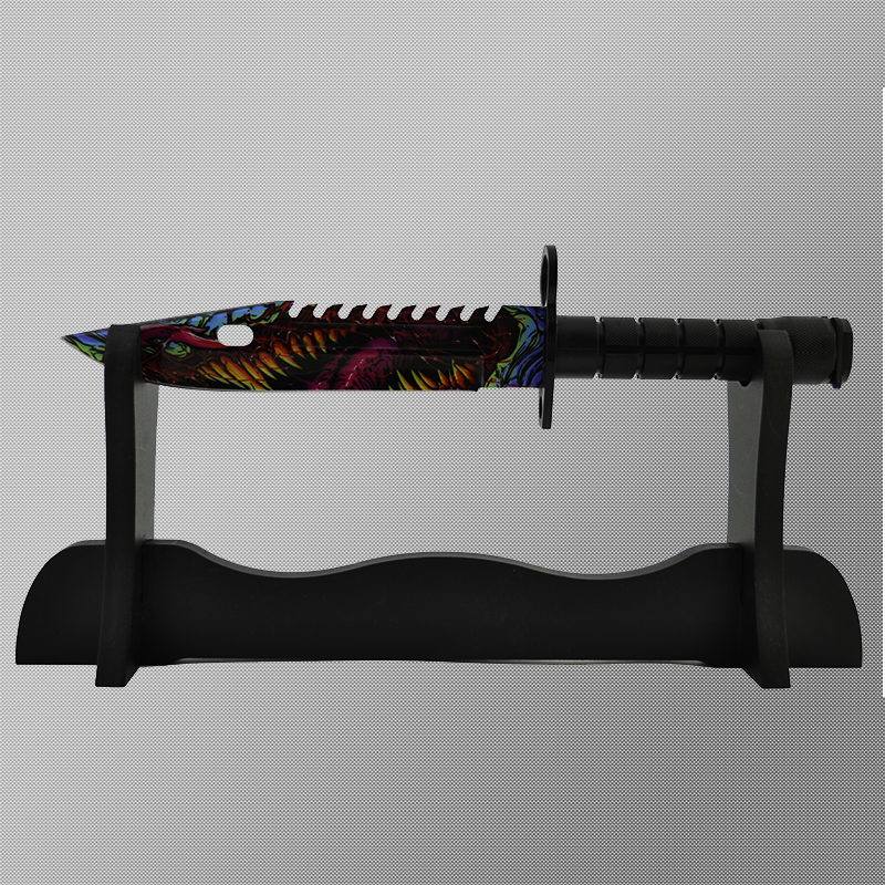 Геймърски нож CS M9 BAYONET DARK MONSTER M13 и ПОДАРЪК дървена стойка