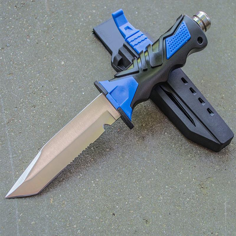 DIVER's EXTREME KNIFE - водолазен спортен нож за гмуркачи с кания за бедро