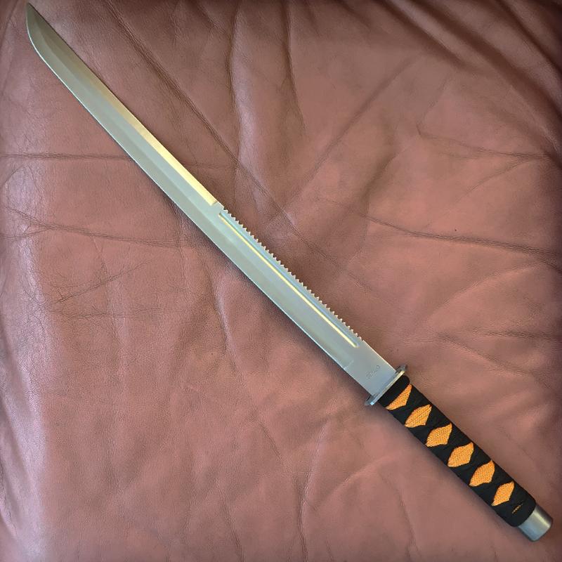 Класически японски самурайски меч SEKIZO с кожен калъф