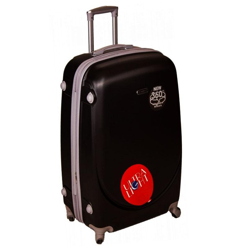 XXL размер луксозен пътнически PVC куфар - спинър 1217 от BLACK най-висок клас