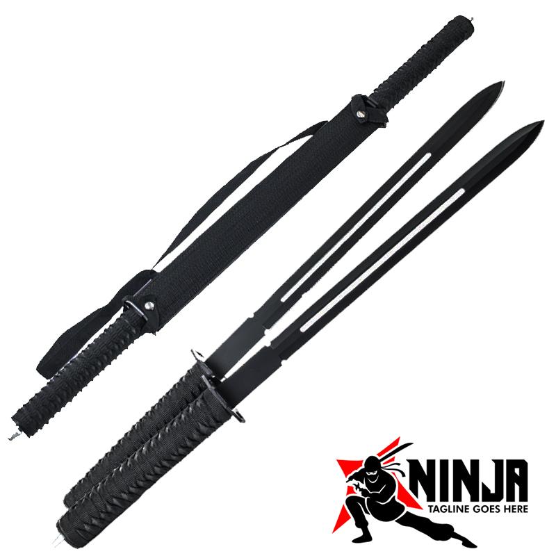Комплект два японски меча BLACK BLADE KUNAI NINJA SWARD