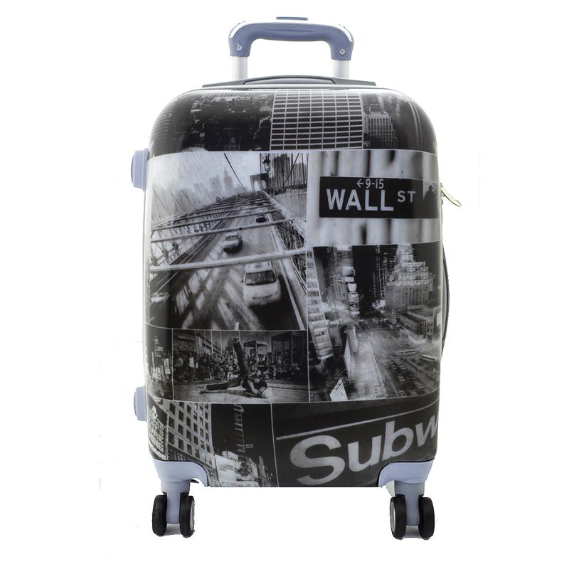 XXL размер луксозен пътнически PVC куфар - спинър WALL STREET - ПОЛИКАРБОН