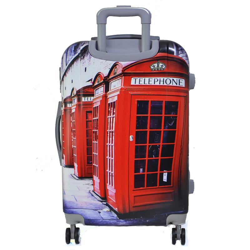 XXL размер луксозен пътнически PVC куфар - спинър 13009-2 LONDON - PVC ПОЛИКАРБОН