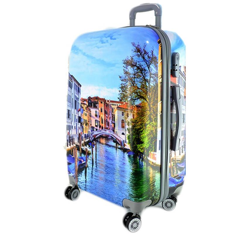 XXL размер луксозен пътнически PVC куфар - спинър 13009-2 VENICE - ПОЛИКАРБОН